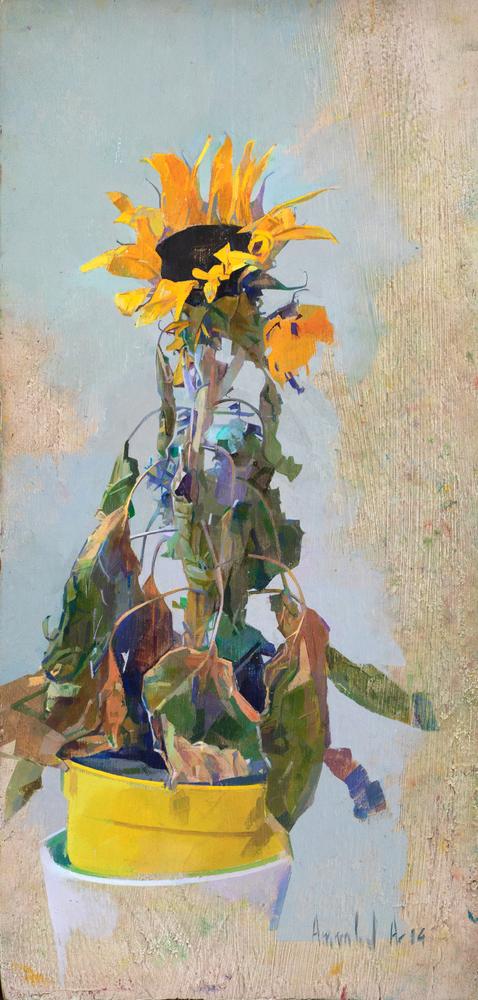 Large_dead_sunflower__oil_on_panel__2014__